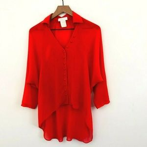 Miss Me MM Couture Cut Out Button Up Shirt